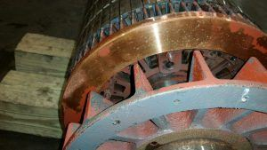end rings of rotor after cleaning