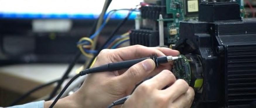 Repair of servo motor